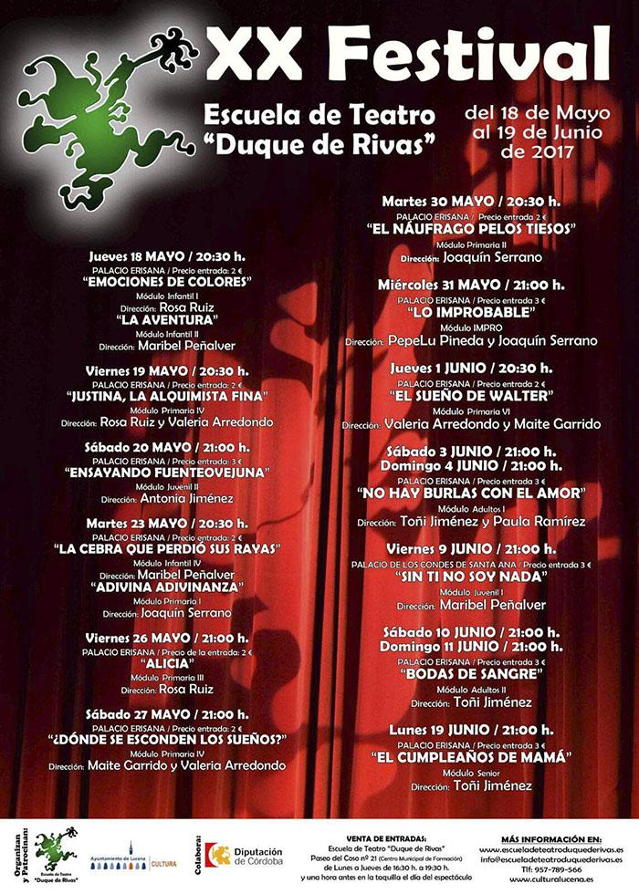 """XX Festival de Teatro Escuela """"Duque de Rivas"""" @ Teatro Palacio Erisana"""