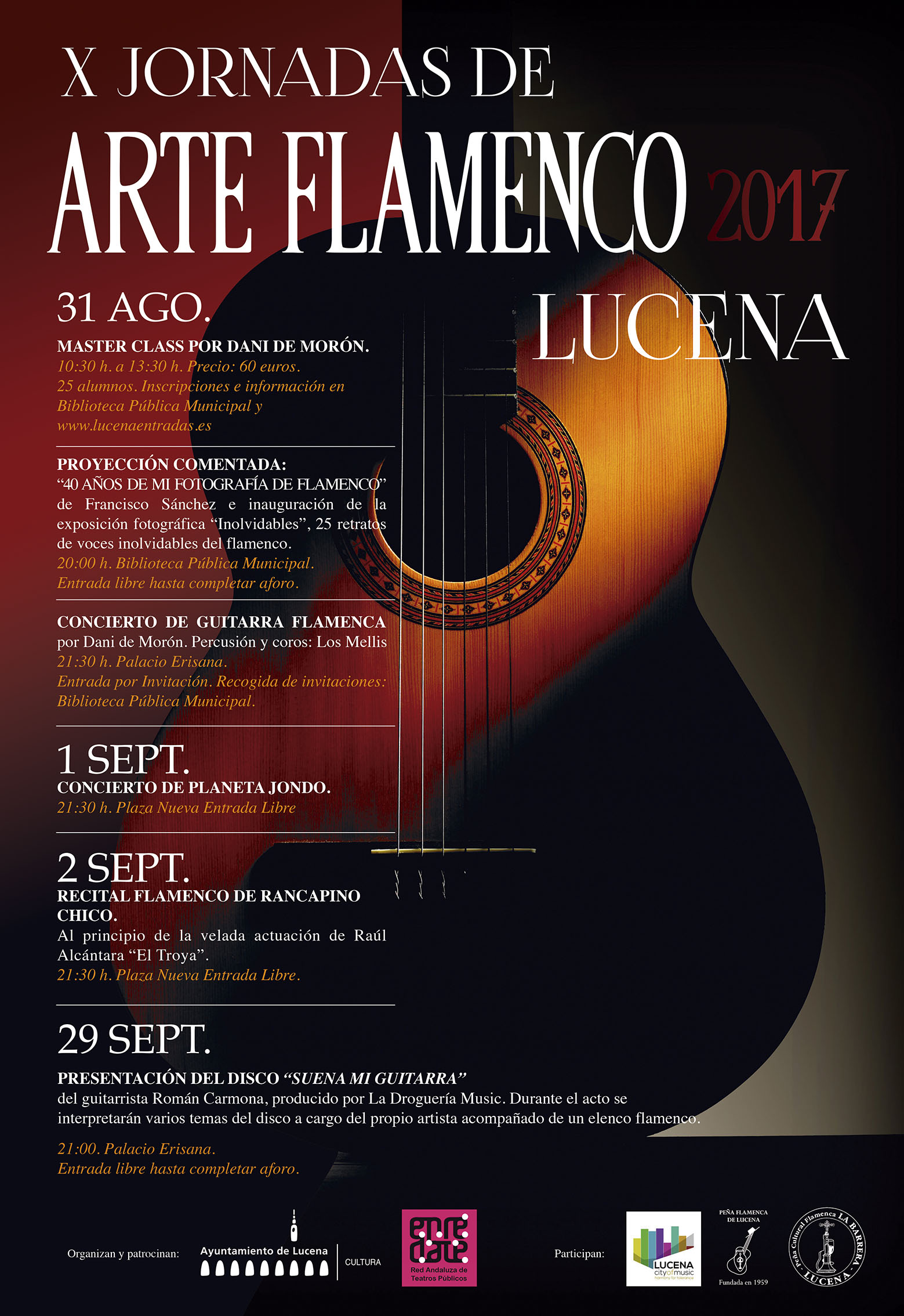 X Jornadas de Arte Flamenco: Concierto de Guitarra Flamenca @ Palacio Erisana