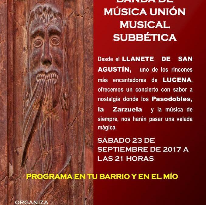 Concierto homenaje música popular española «Unión Musical Subbética»