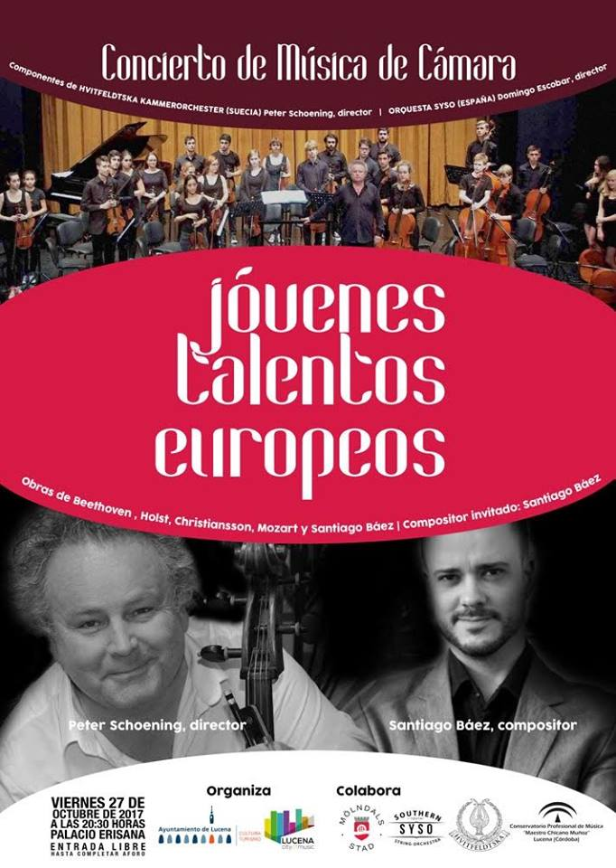 Concierto SYSO + Hvitfeldtska Kammerorchester (Dir. Peter Schoening) @ Palacio Erisana