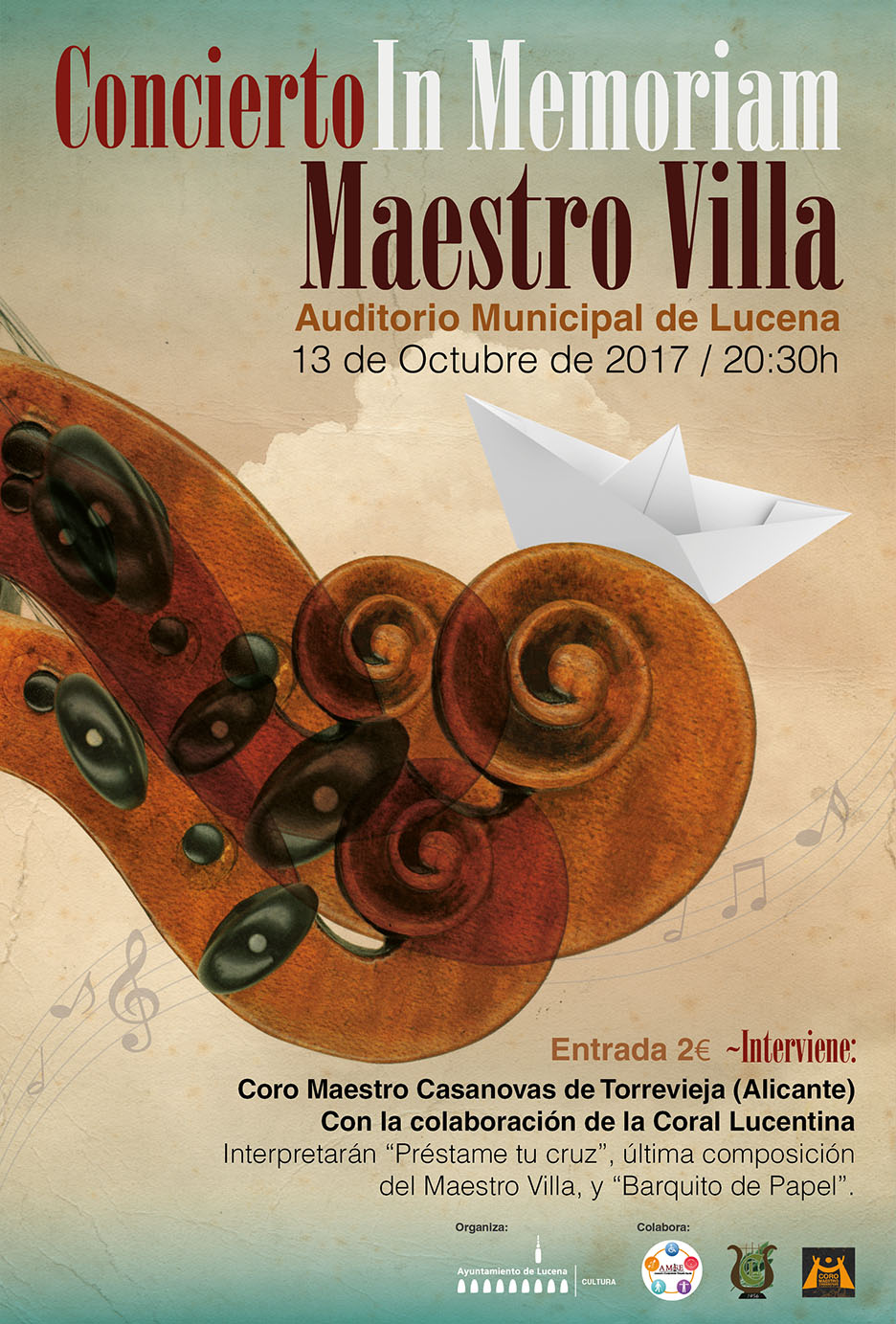 "Concierto ""In Memoriam"" Maestro Antonio Villa @ Auditorio Municipal"