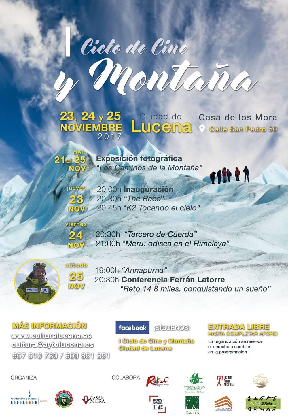 I Ciclo de Cine y Montaña Ciudad de Lucena @ Casa de los Mora