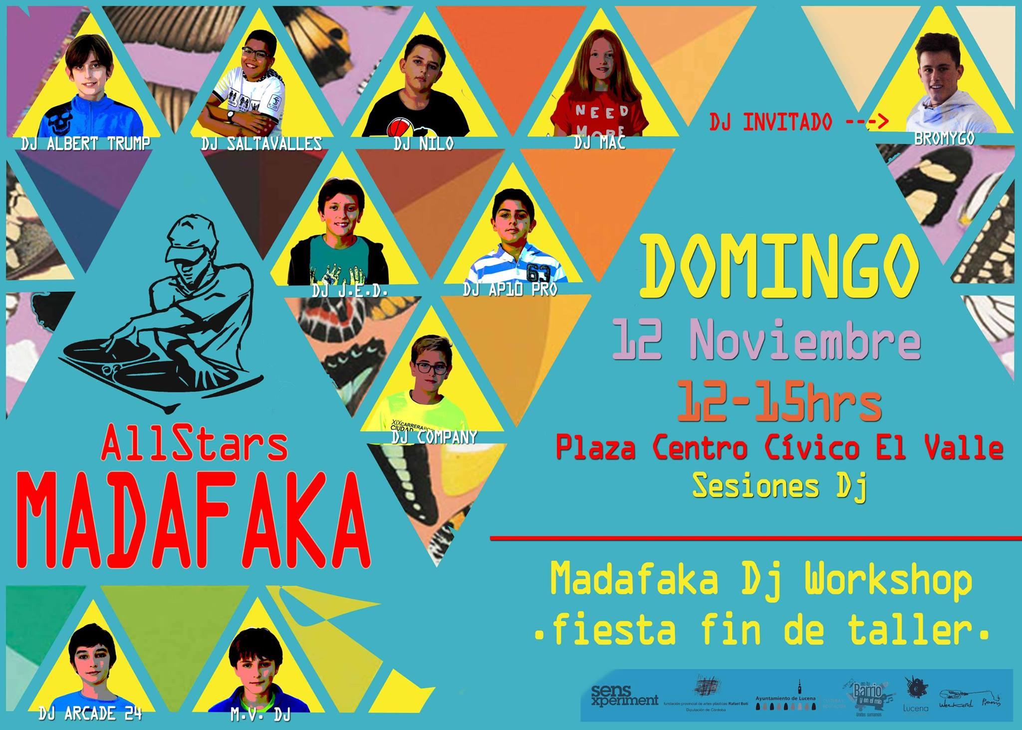"""Fiesta fin de taller """"JÓVENES DJ."""" """"Madafaka dj Workshop"""" @ Centro Social Municipal """"El Valle"""""""