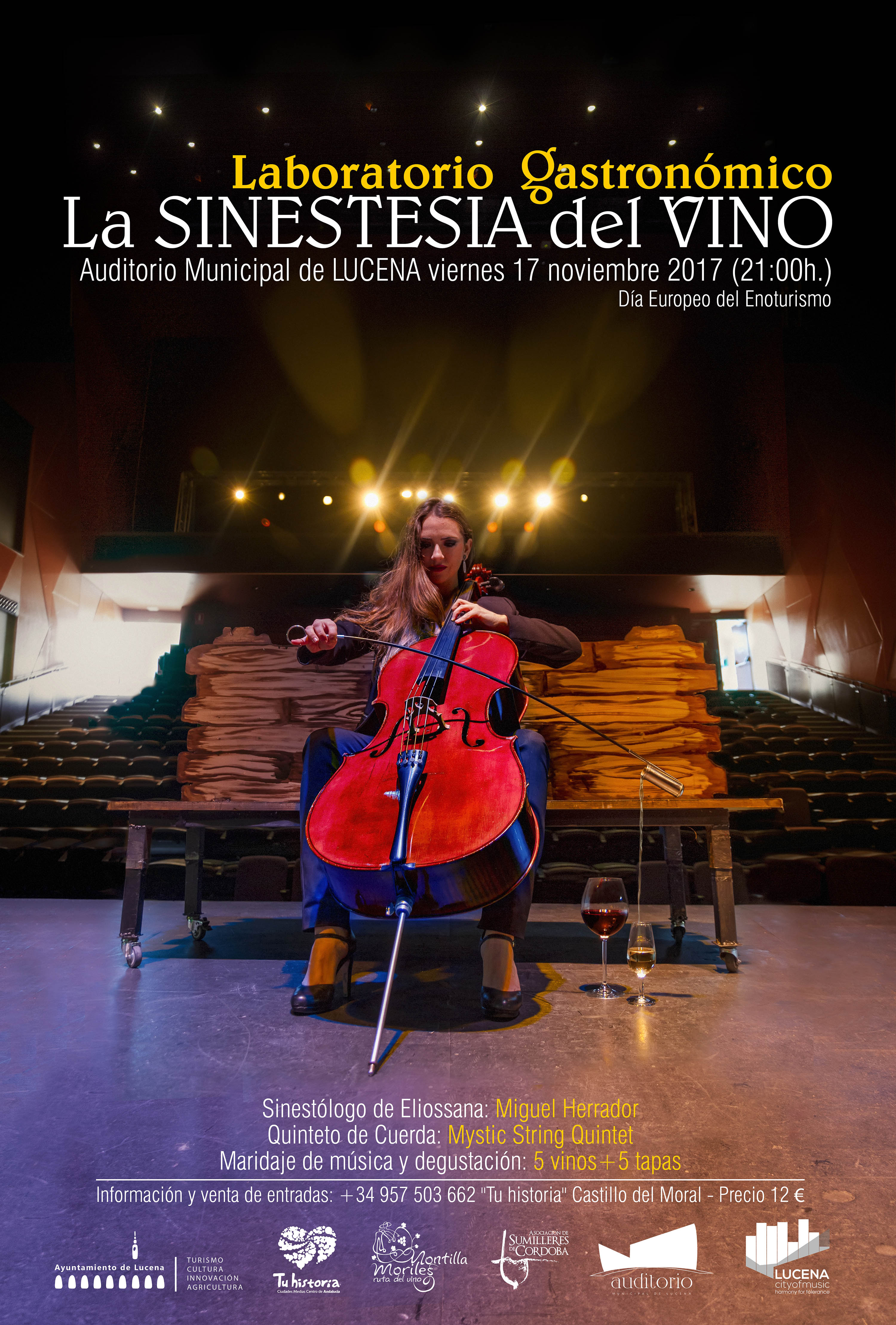 Laboratorio Enogastronómico: La sinestesia del vino @ Auditorio Municipal