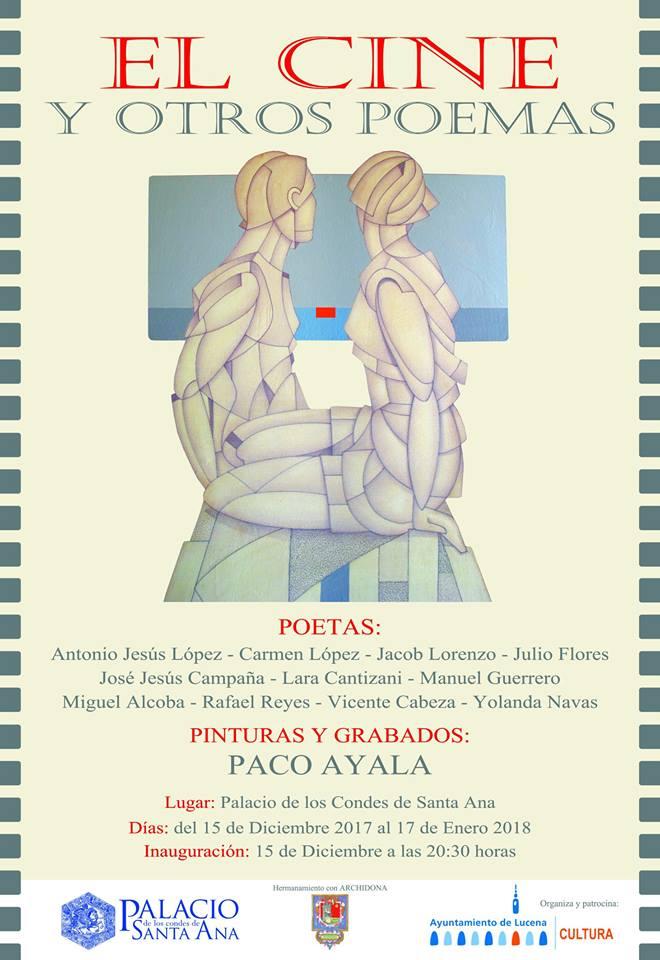 """Pintura y grabados de Paco Ayala """"El cine y otros poemas"""" @ Palacio de los Condes de Santa Ana"""
