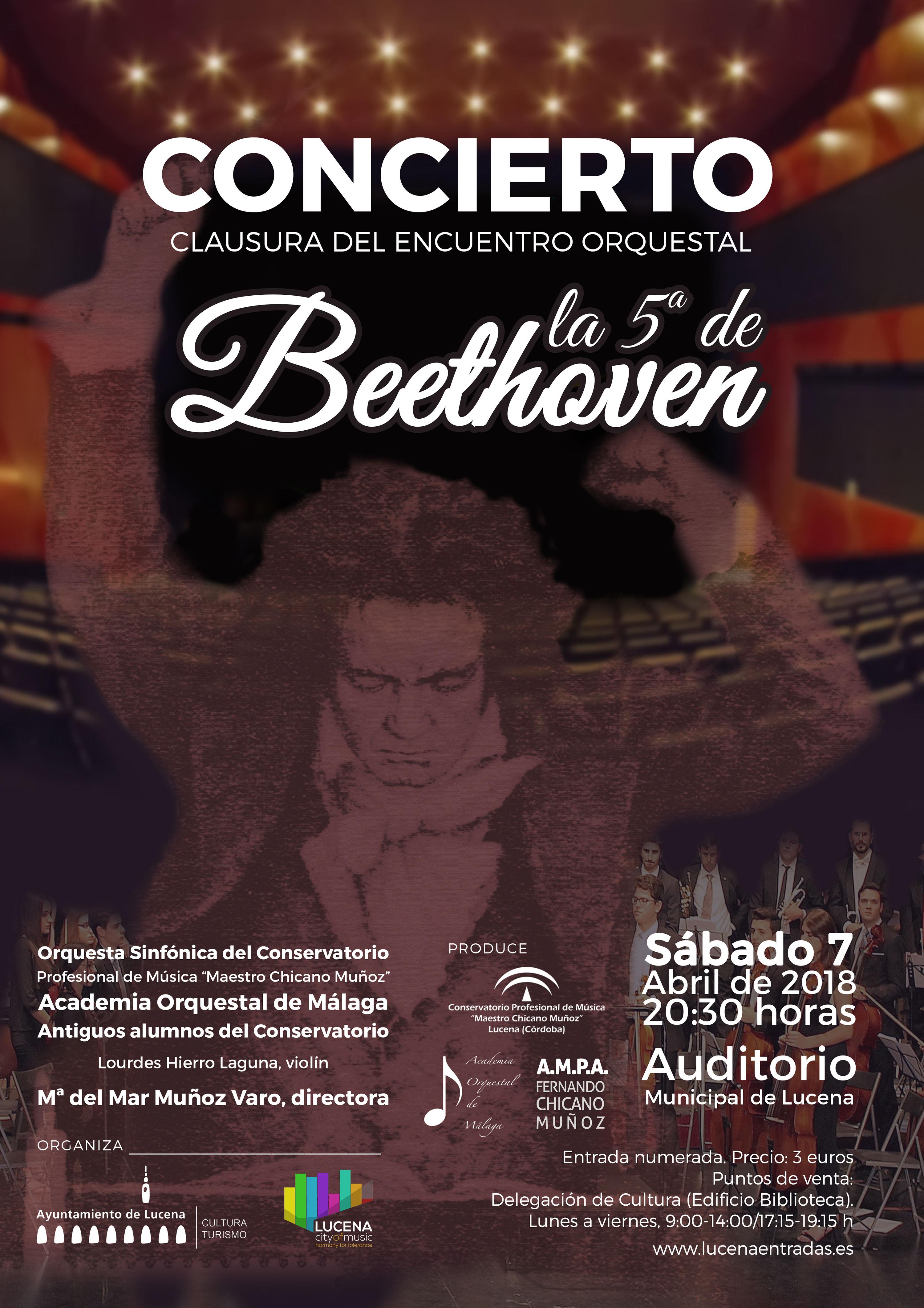 """I ENCUENTRO ORQUESTAL DE LUCENA """"LA QUINTA DE BEETHOVEN"""" @ Auditorio Municipal"""