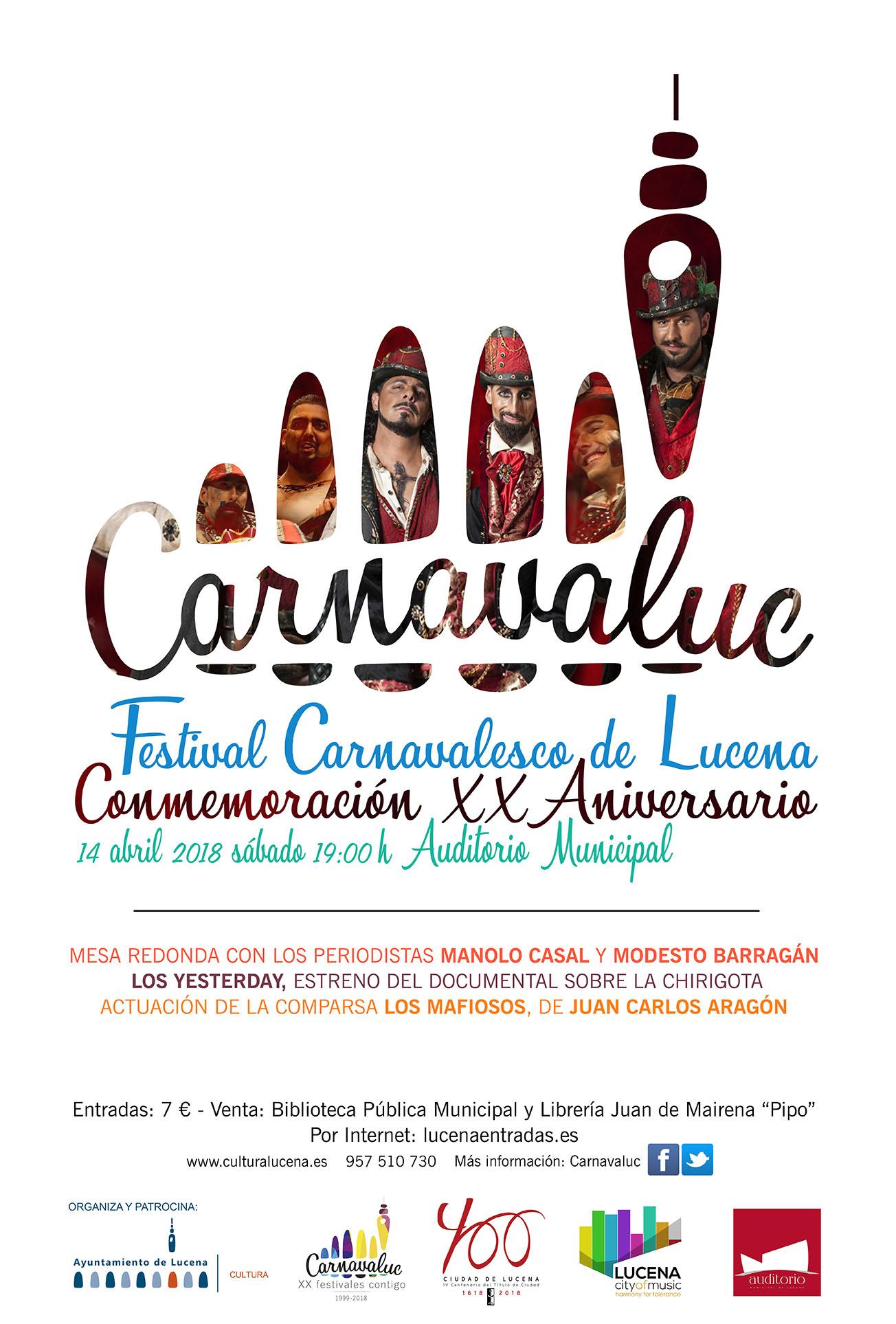 Carnavaluc: conmemoración XX Aniversario @ Auditorio Municipal