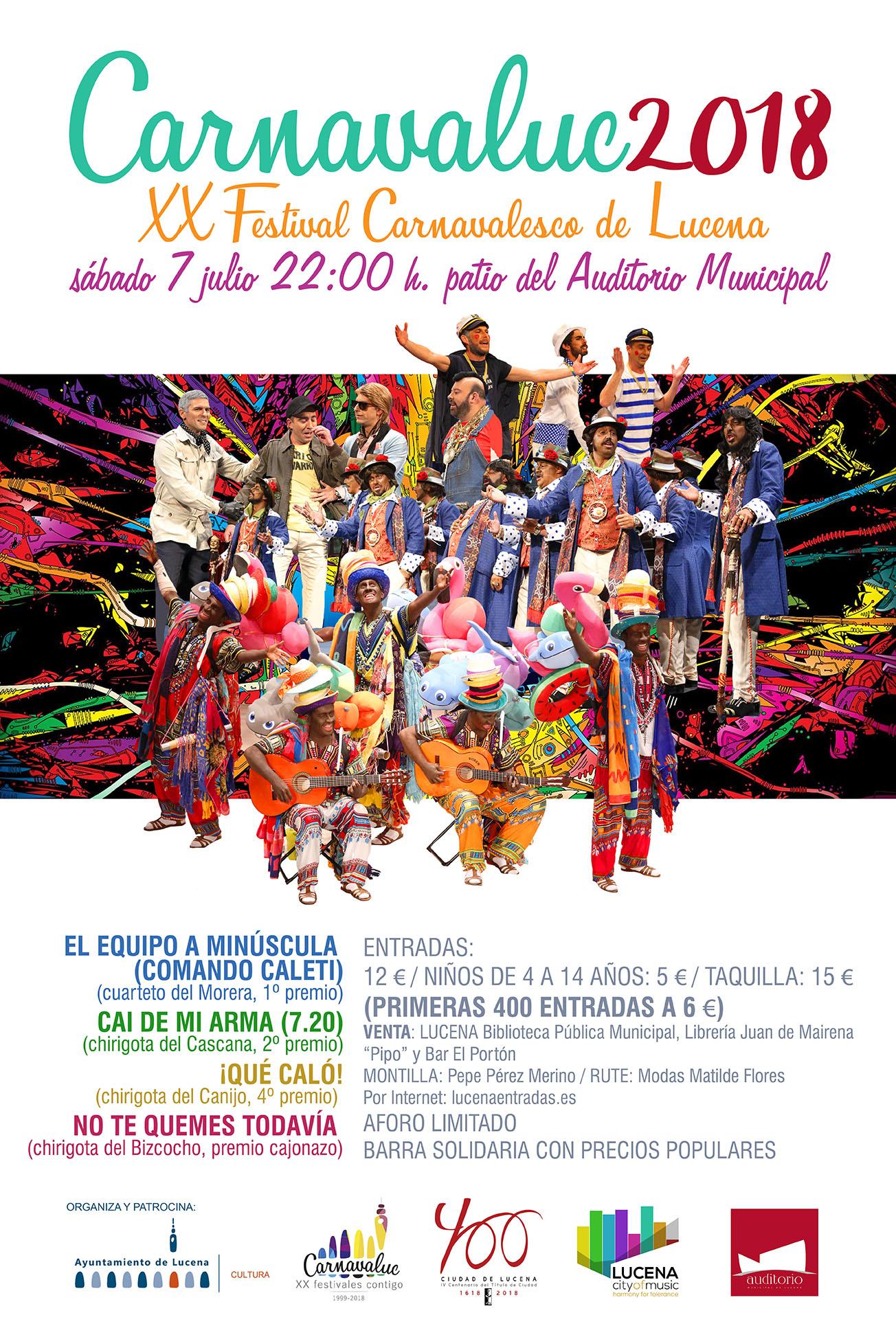 XX Carnavaluc 2018 @ Patio Auditorio Municipal