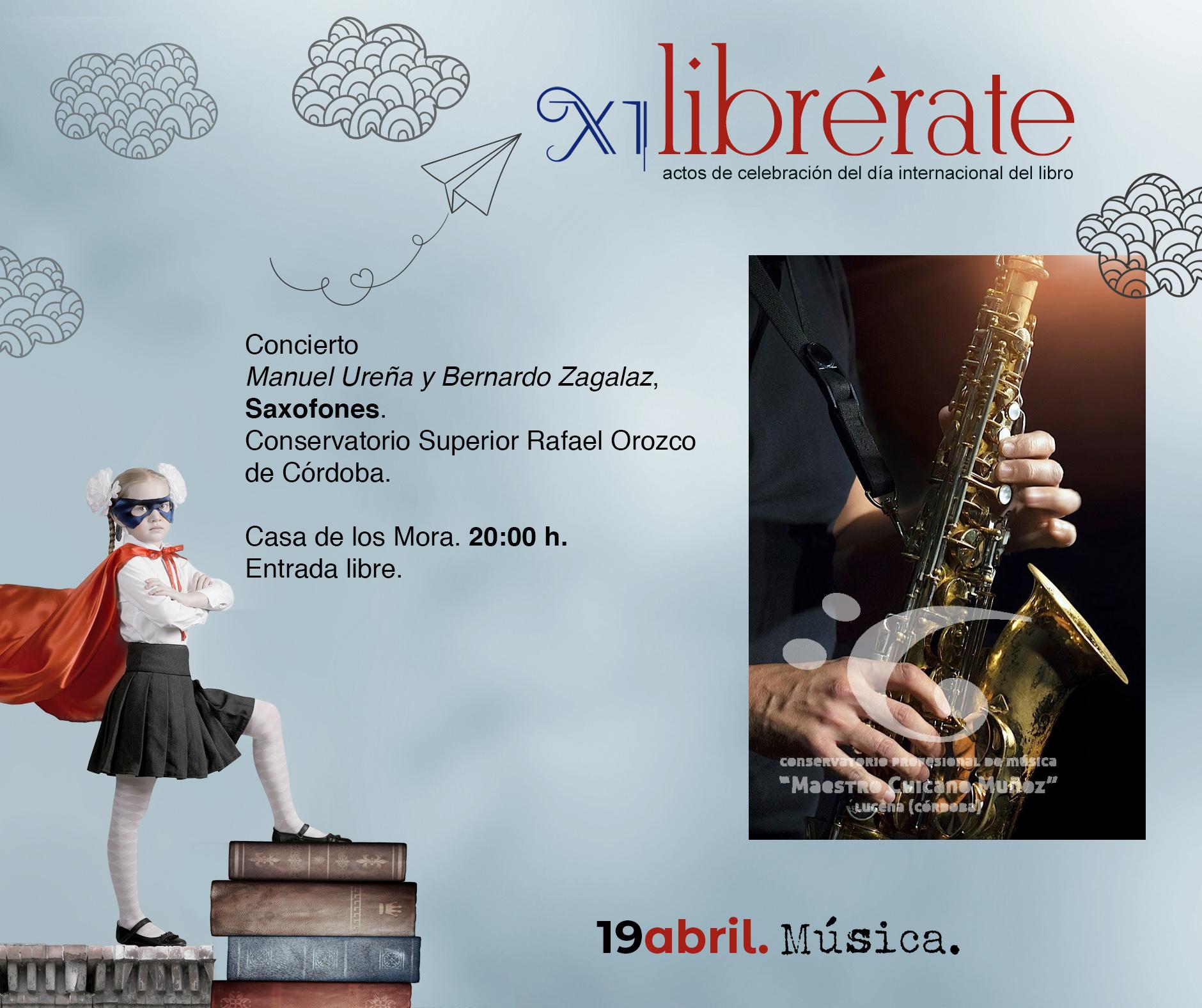 Concierto  Manuel Ureña y Bernardo Zagalaz, Saxofones @ Casa de los Mora