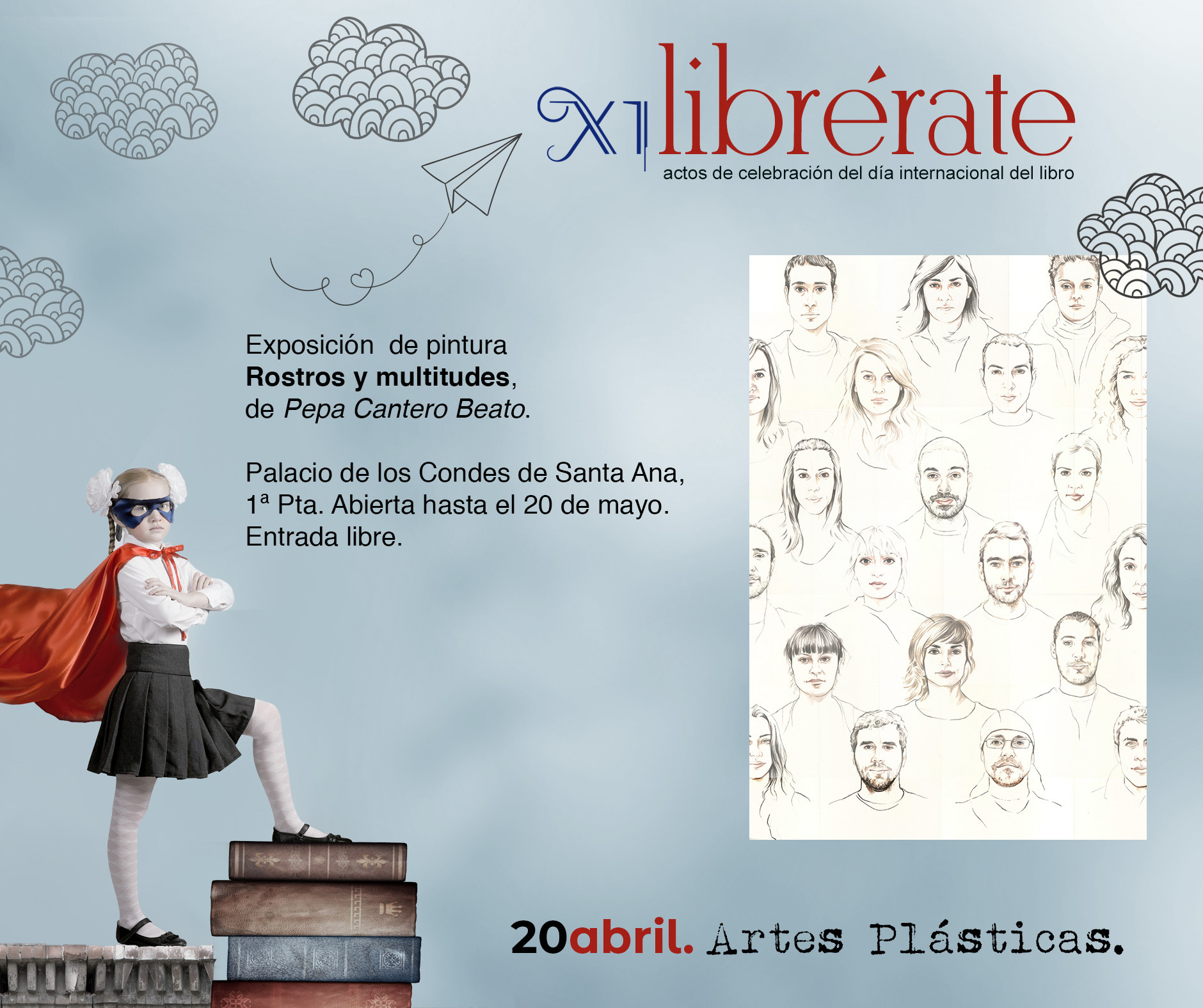 Exposición  de pintura  Rostros y multitudes,  de Pepa Cantero Beato @ Palacio de los Condes de Santa Ana