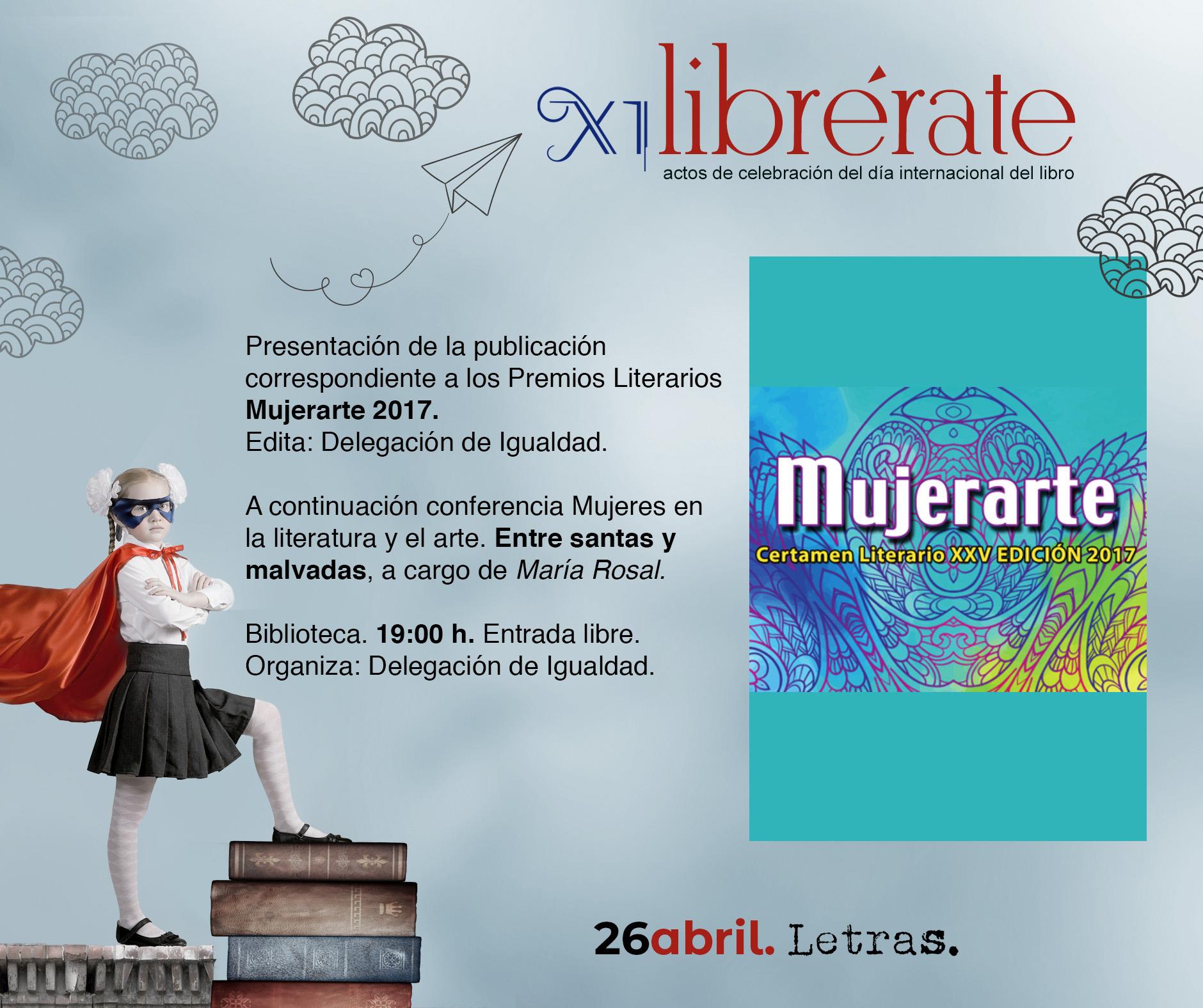 Presentación de la publicación correspondiente a los Premios Literarios Mujerarte 2017 @ Biblioteca Pública Municipal