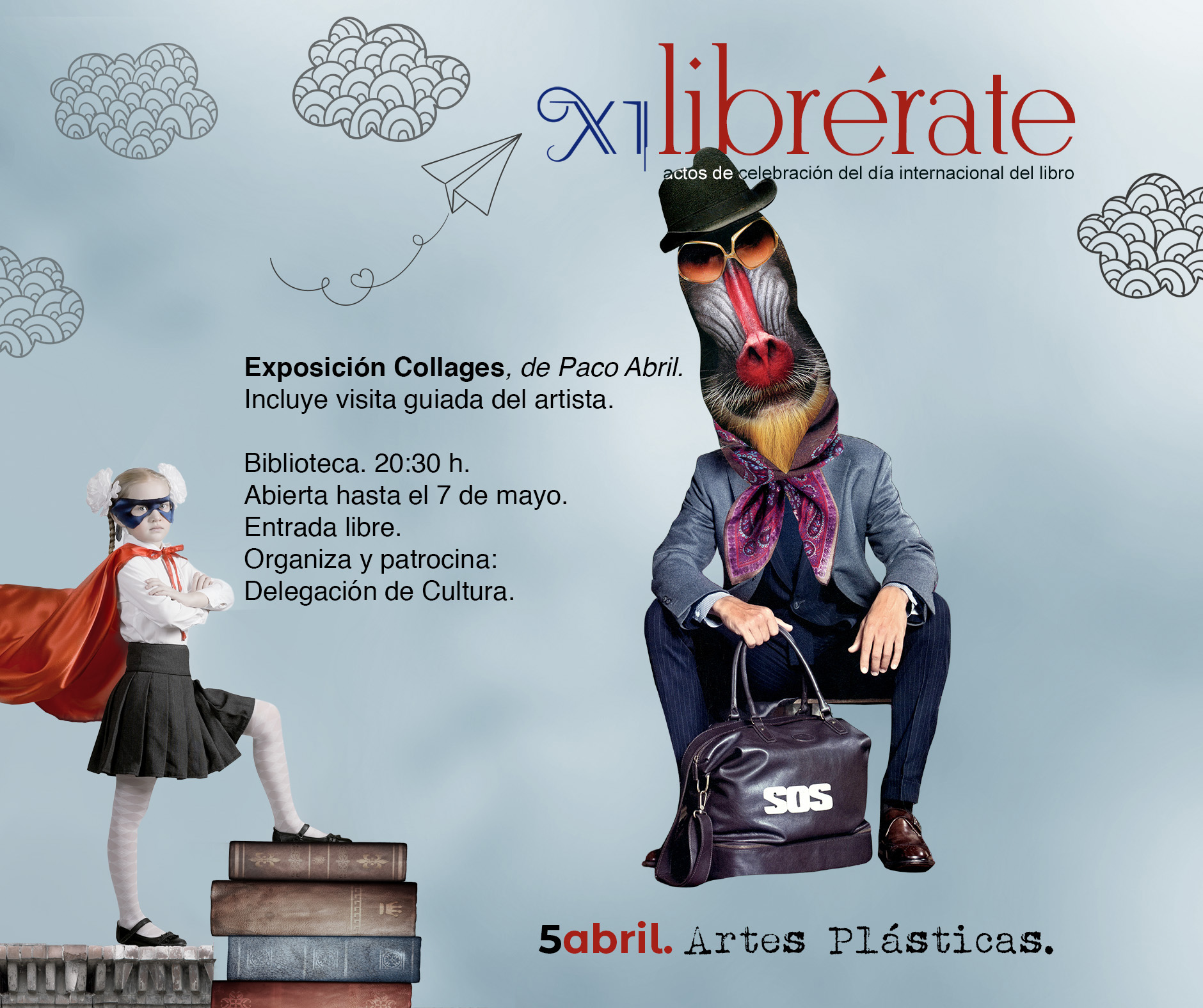 Exposición Collages, de Paco Abril @ Biblioteca Pública Municipal