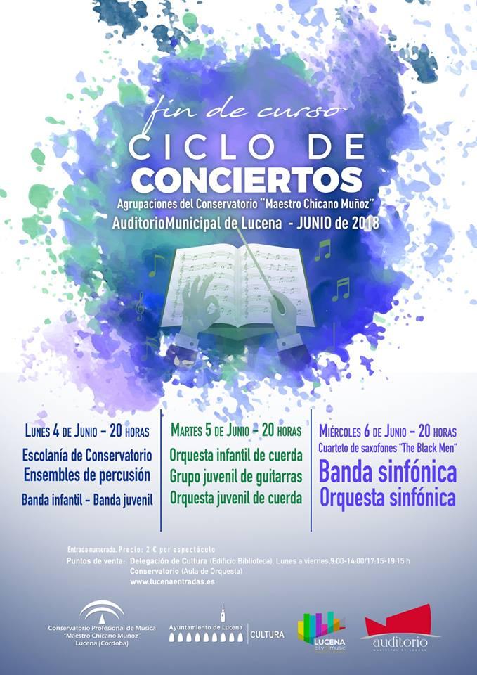 CICLO DE CONCIERTOS DEL CONSERVATORIO DE LUCENA @ Conservatorio Profesional de Lucena