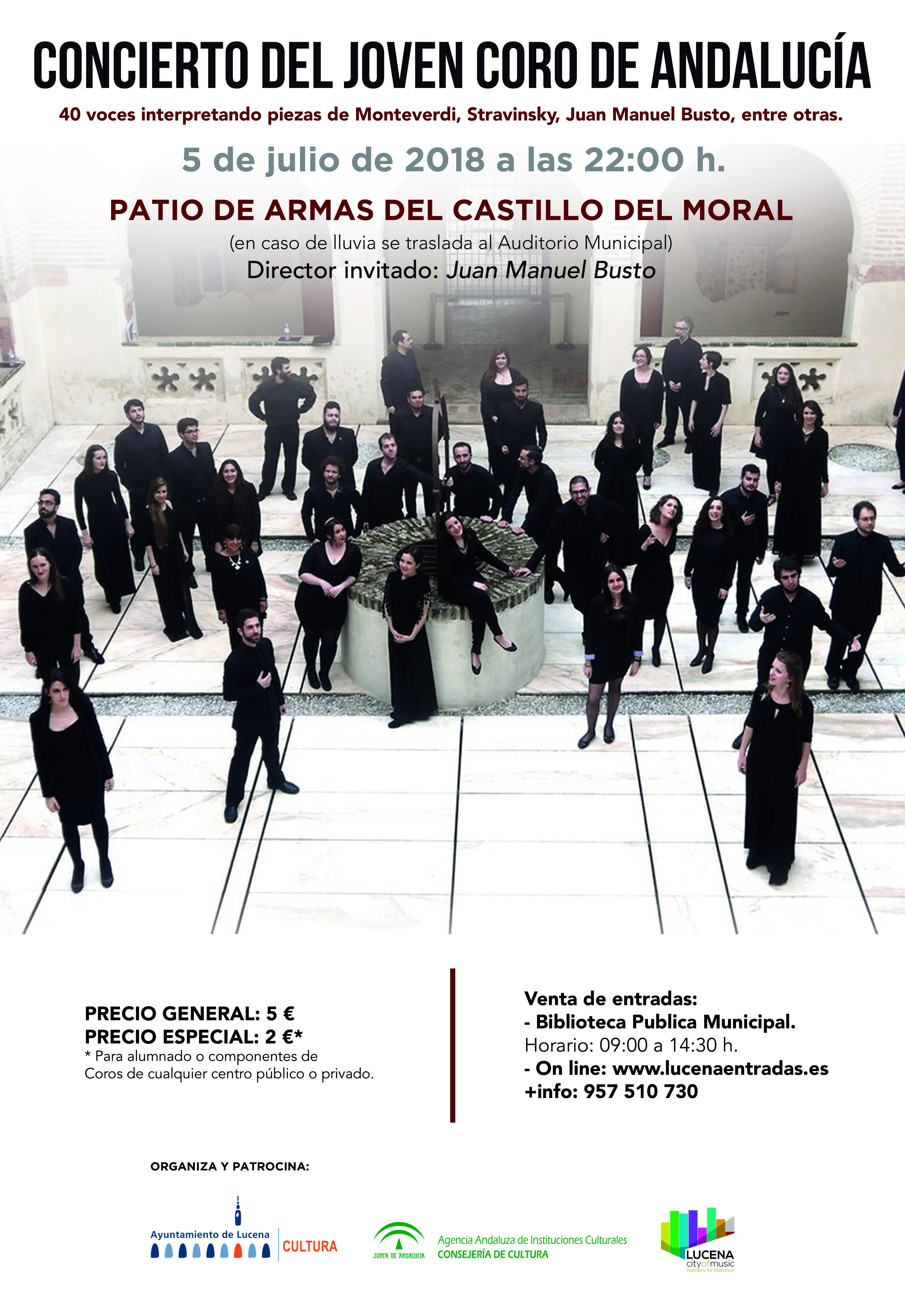 CONCIERTO DEL JOVEN CORO DE ANDALUCÍA @ Castillo del Moral