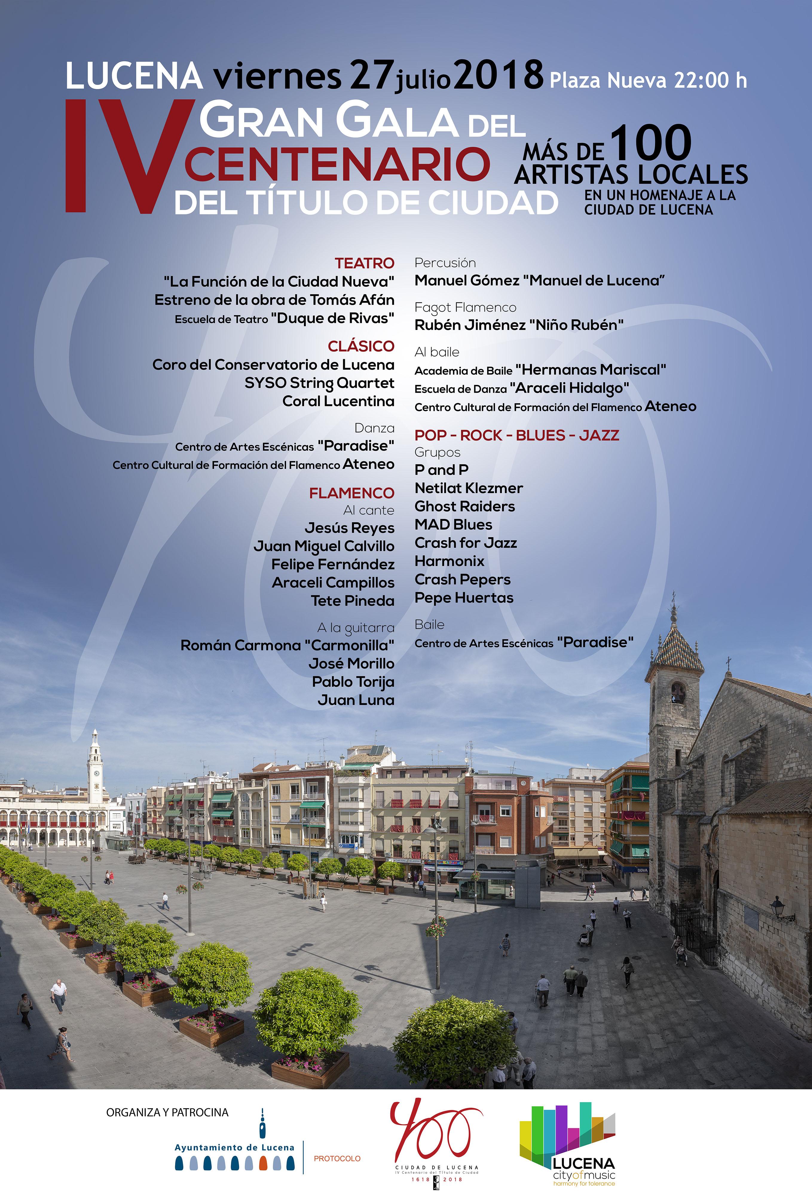 Gran Gala del IV Centenario del Título de Ciudad @ Plaza Nueva