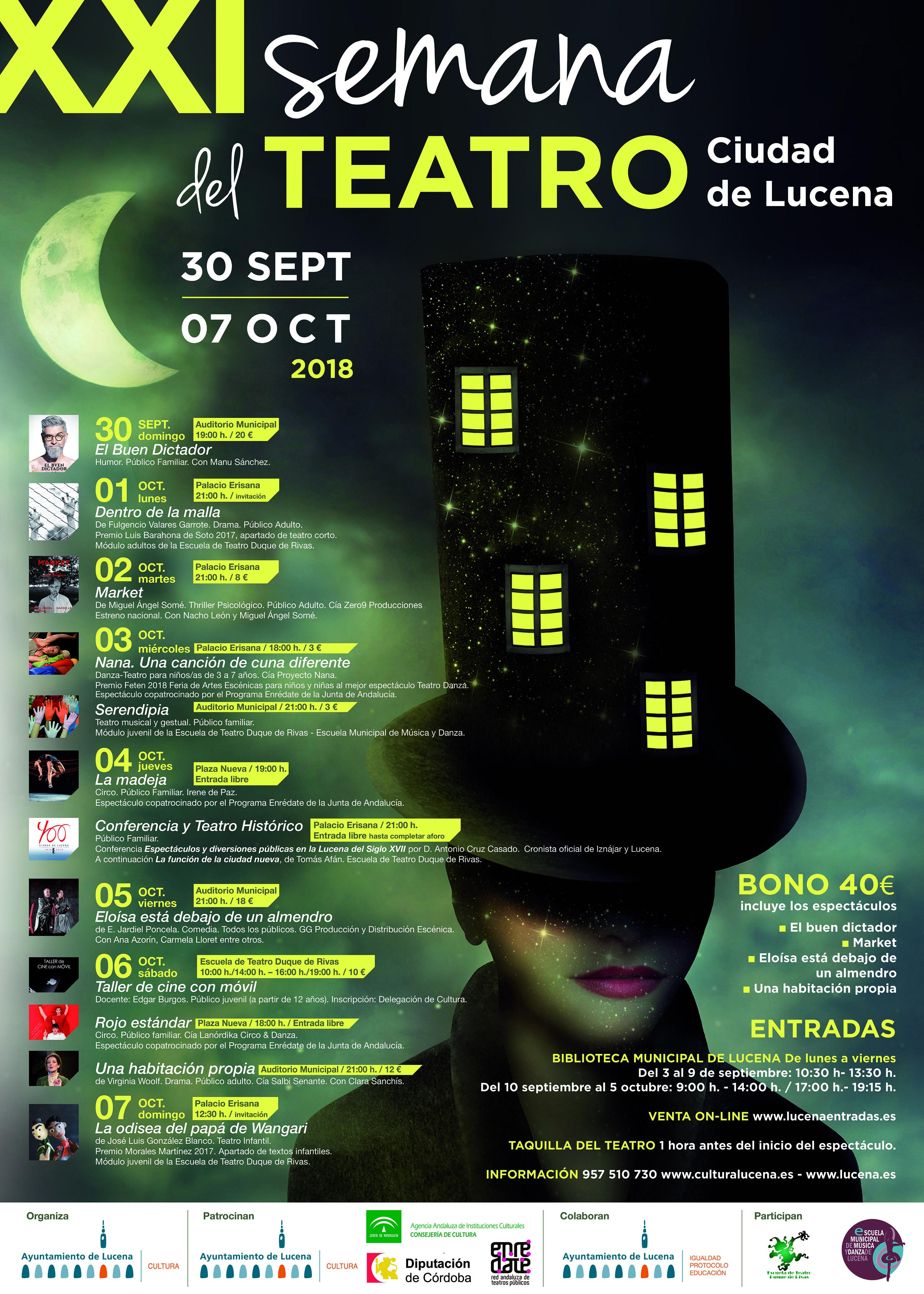 XXI Semana del Teatro Ciudad de Lucena @ varios espacios