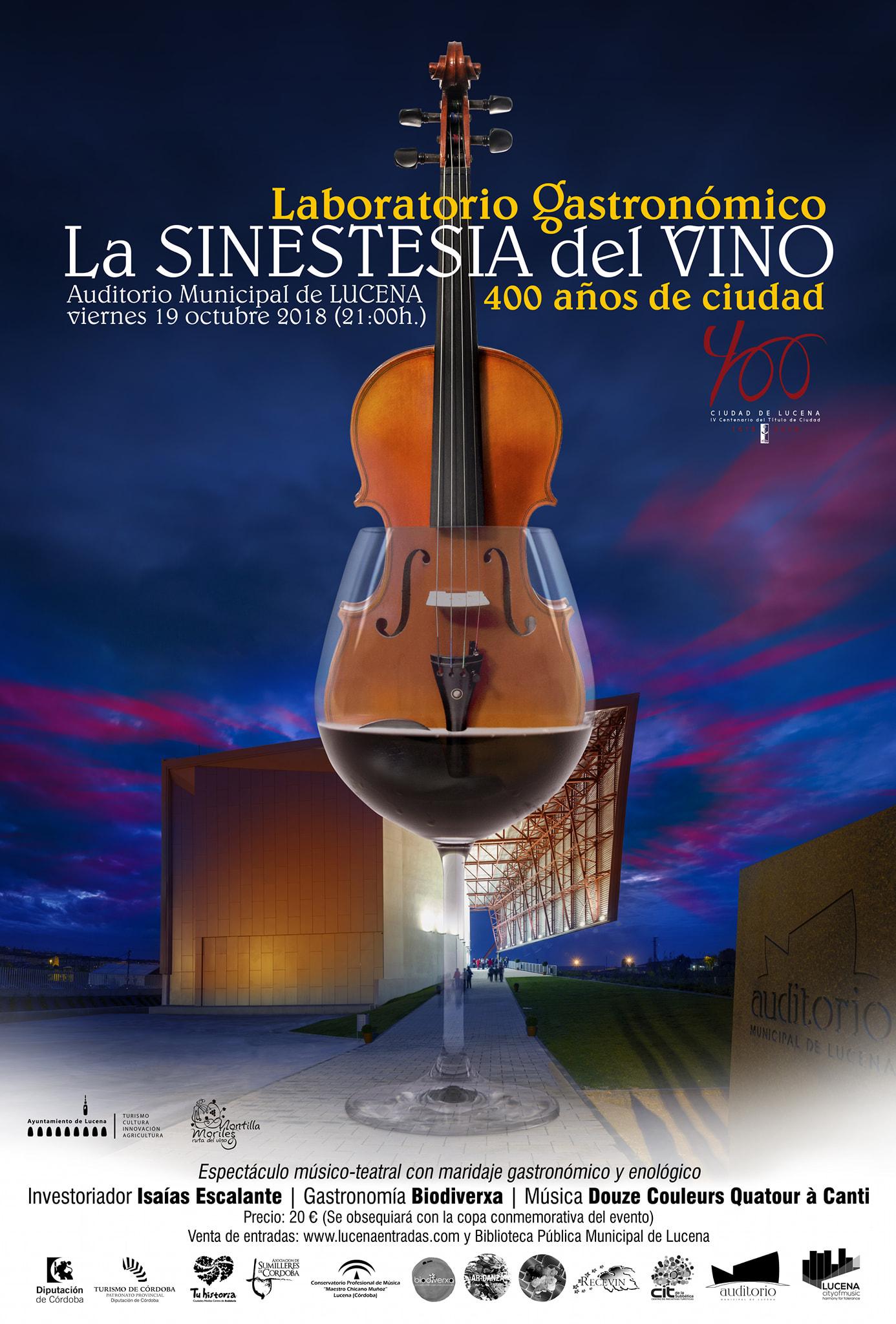 """""""La Sinestesia del Vino"""" Laboratorio Gastronómico @ Auditorio Municipal"""