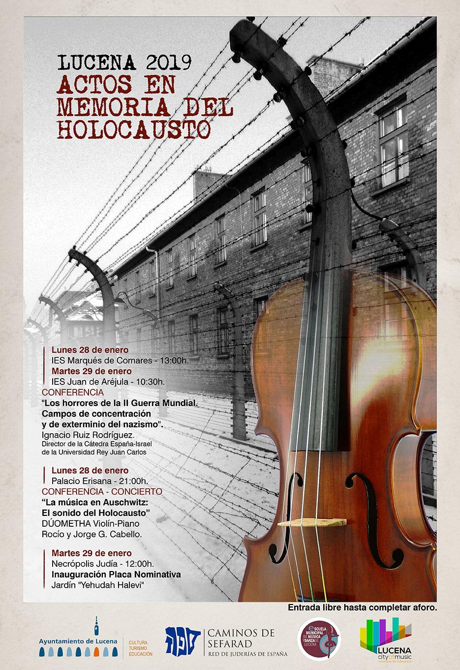 Actos por el Día Internacional en Memoria de las Víctimas del #Holocausto @ varios espacios