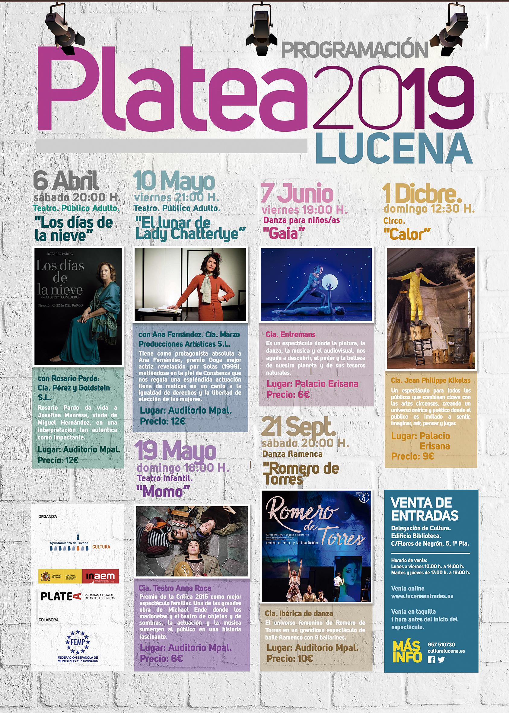 PLATEA 2019 @ Auditorio y Palacio Erisana