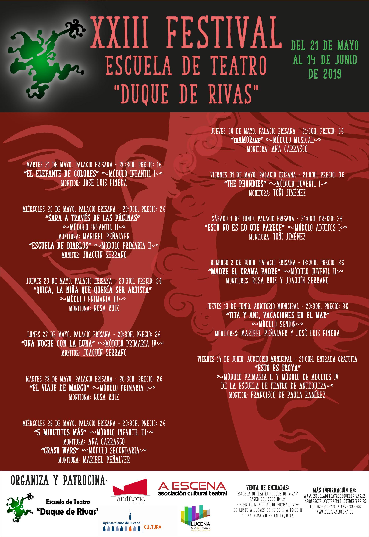 XXIII Festival de la Escuela de Teatro Duque de Rivas @ Palacio Erisana