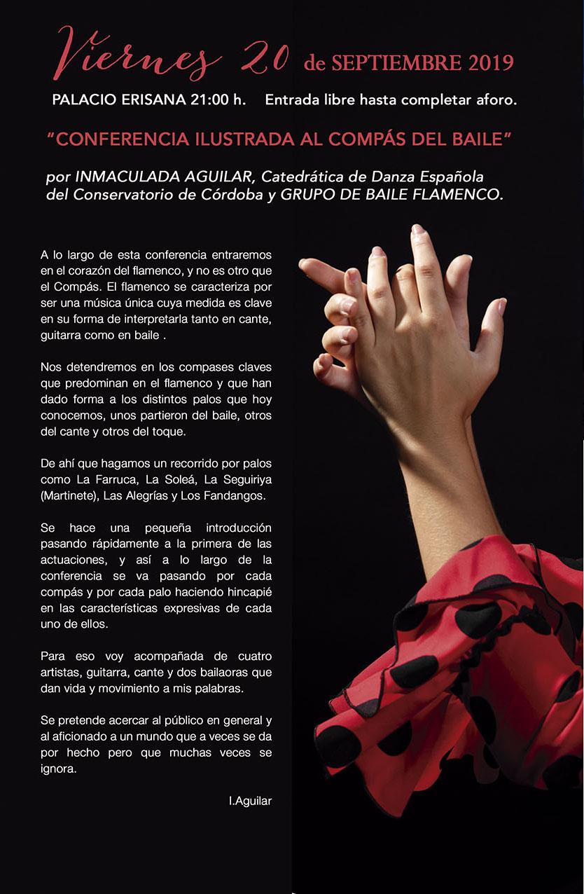 """XI Jornadas de Arte Flamenco """"CONFERENCIA ILUSTRADA AL COMPÁS DEL BAILE"""" @ Palacio Erisana"""