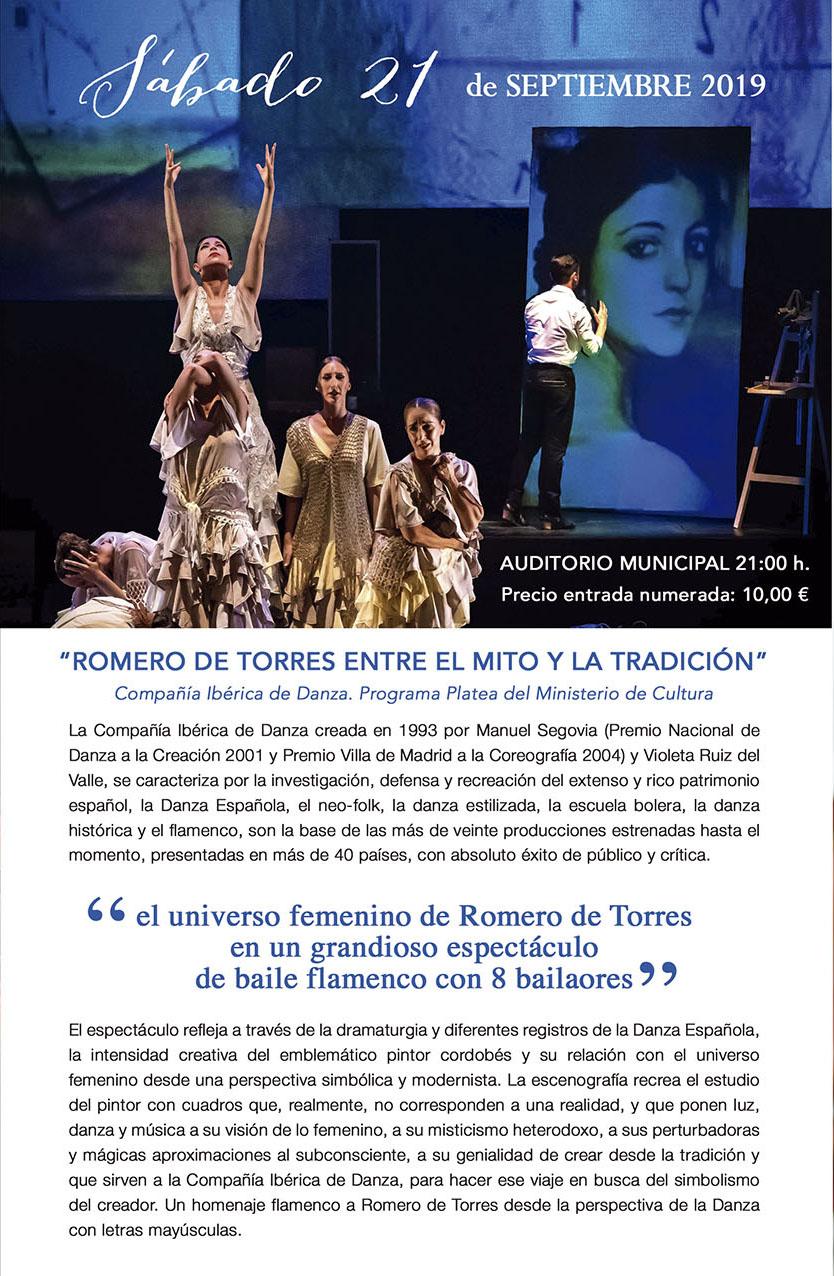 """XI Jornadas de Arte Flamenco """"ROMERO DE TORRES ENTRE EL MITO Y LA TRADICIÓN"""" @ Auditorio Municipal"""