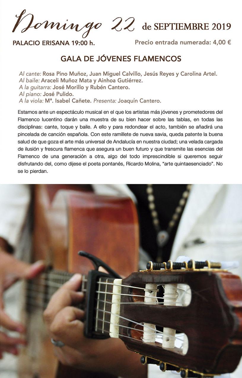 XI Jornadas de Arte Flamenco GALA DE JÓVENES FLAMENCOS @ Palacio Erisana