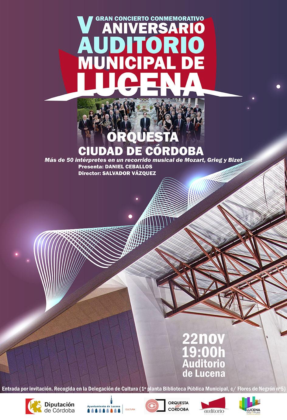 V aniversario Auditorio. Concierto Gran Orquesta de Córdoba @ Auditorio Municipal