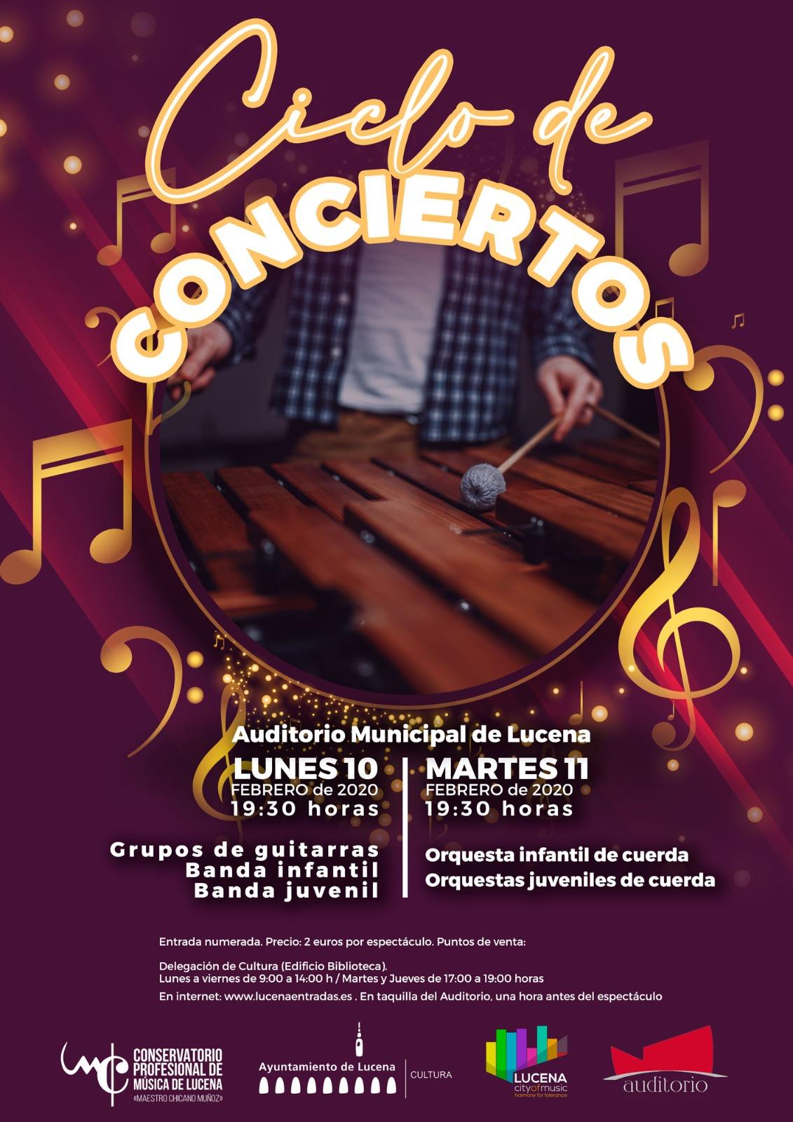Conciertos Conservatorio: GRUPOS DE VIENTO Y GUITARRAS @ Auditorio Municipal