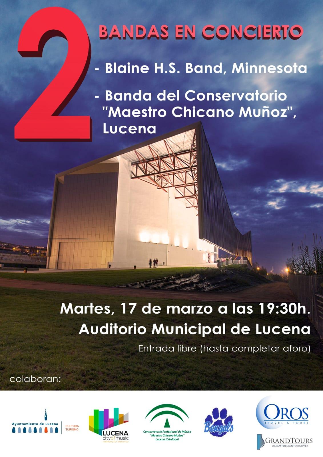 Bandas en concierto @ Auditorio Municipal