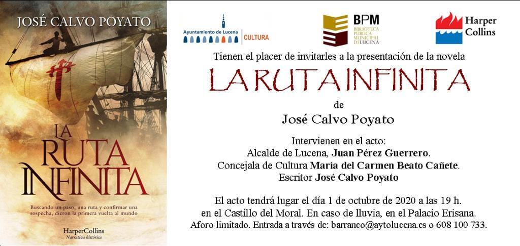 """Presentación del libro """"La ruta infinita"""" de José Calvo Poyato @ Castillo del Moral"""