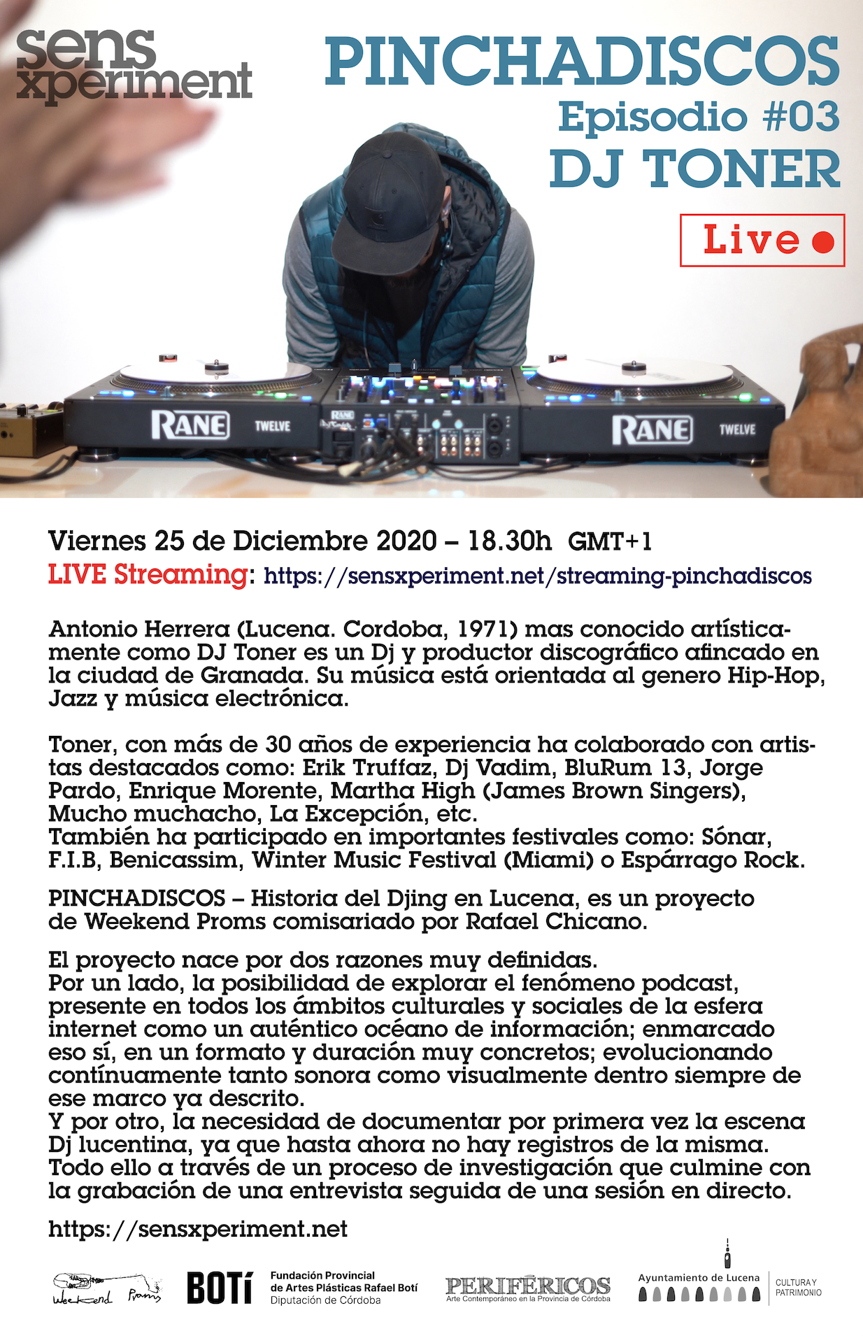 PINCHADISCOS episodio #3 DJ Toner @ live streaming