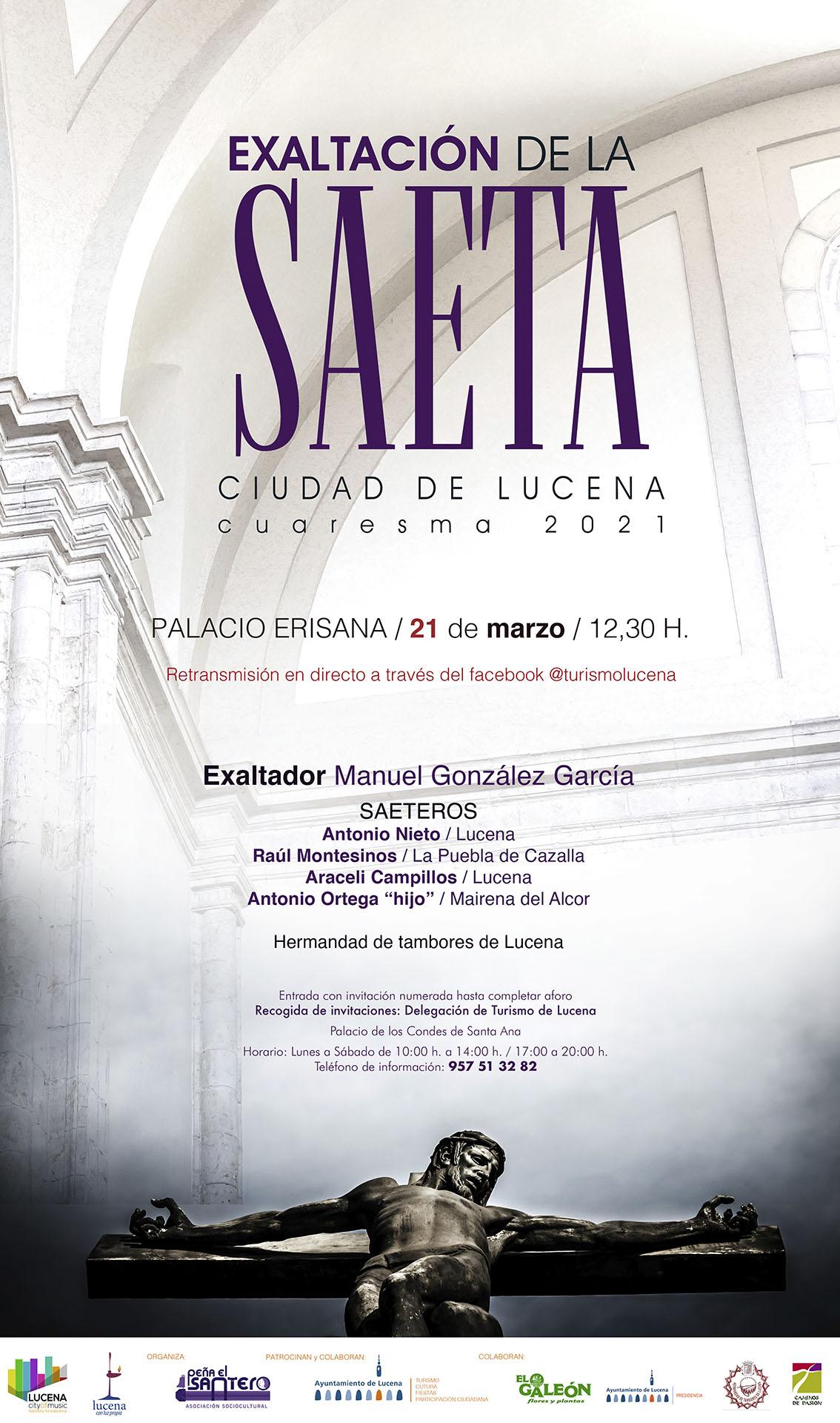 """Exaltación de la saeta """"Ciudad de Lucena"""" @ Palacio Erisana"""