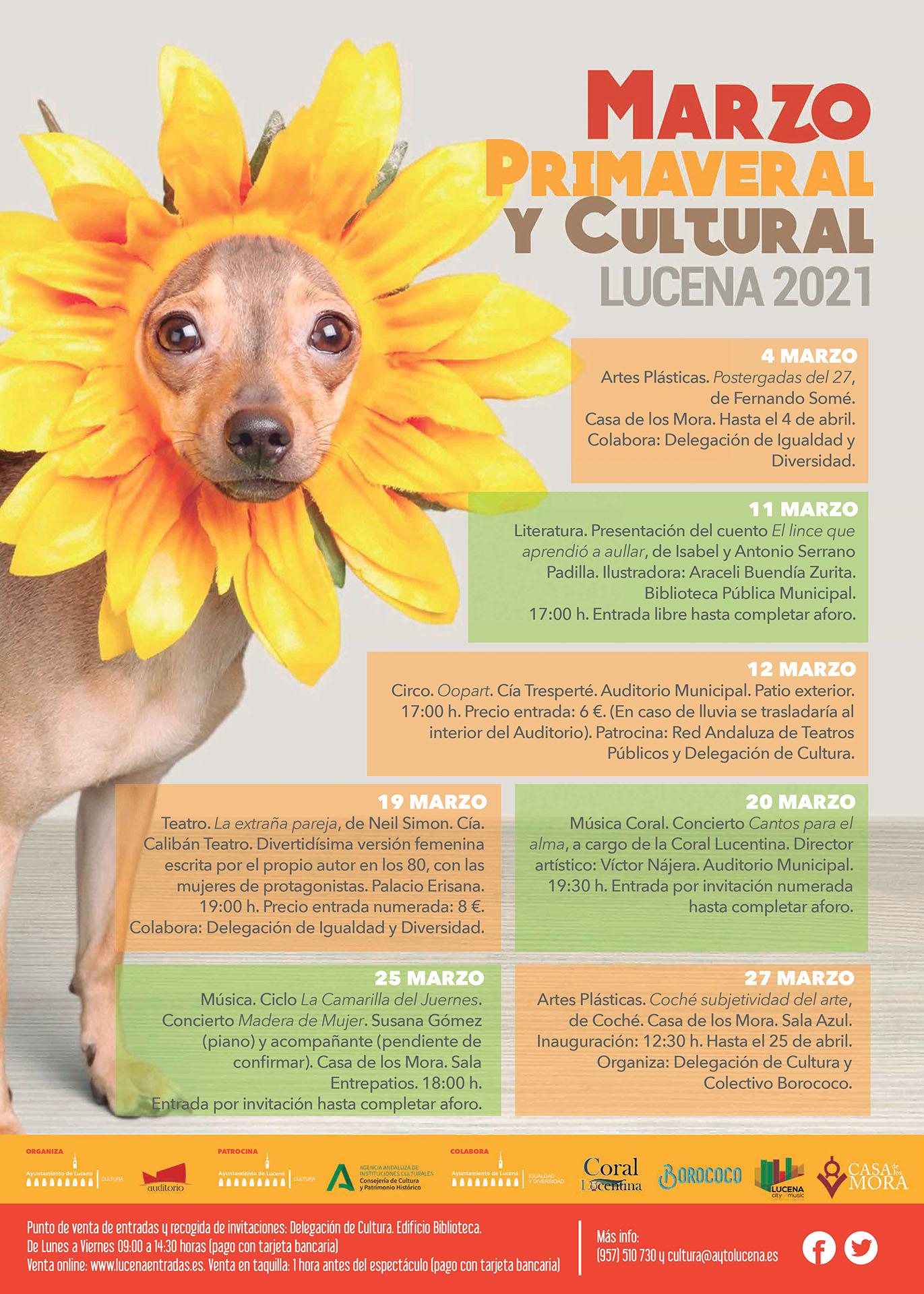 """""""Marzo Primaveral y Cultural"""": exposiciones, teatro, literatura, circo y conciertos @ varios espacios"""