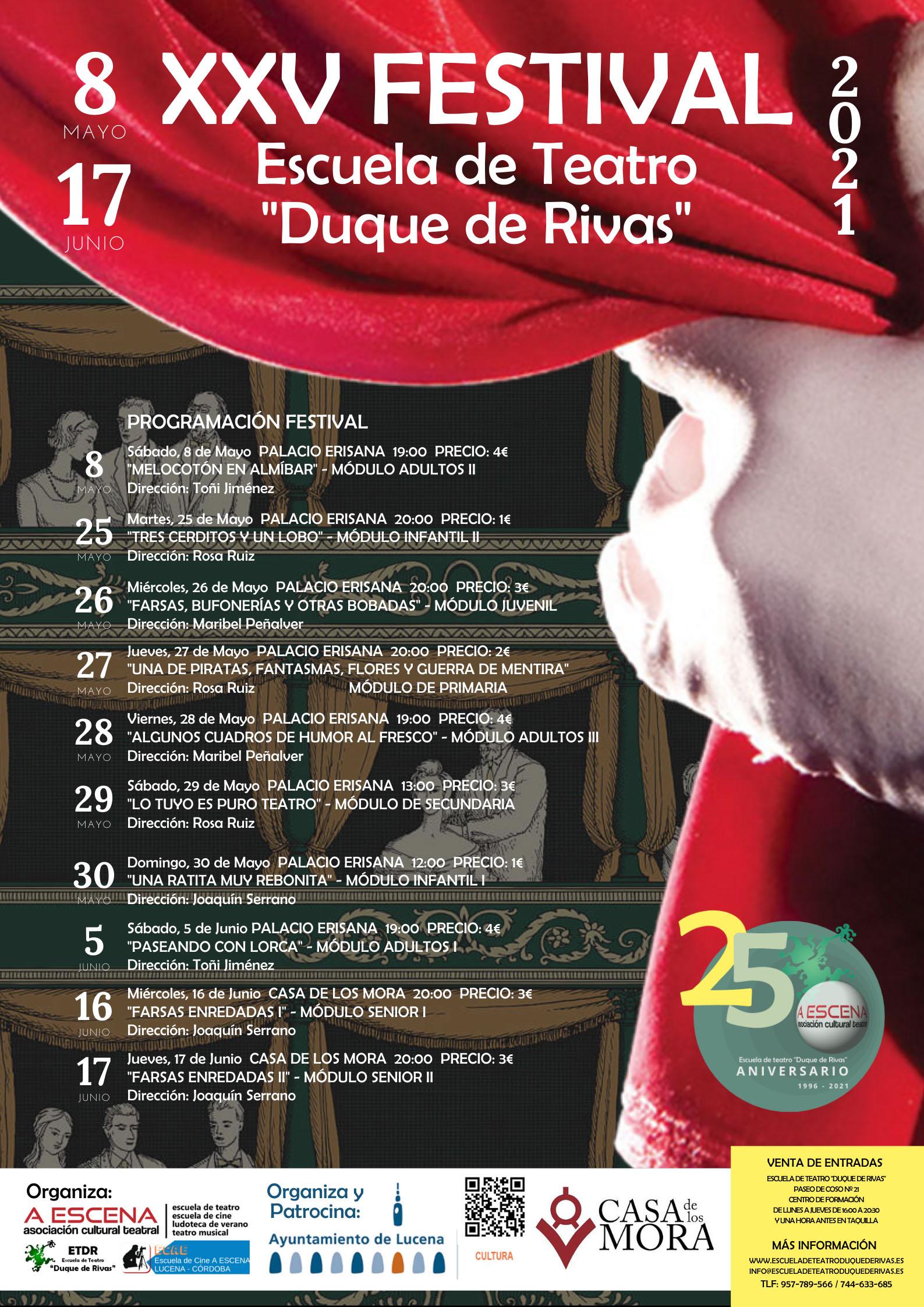 """XXV Festival de la Escuela de Teatro """"Duque de Rivas"""" @ varios espacios"""