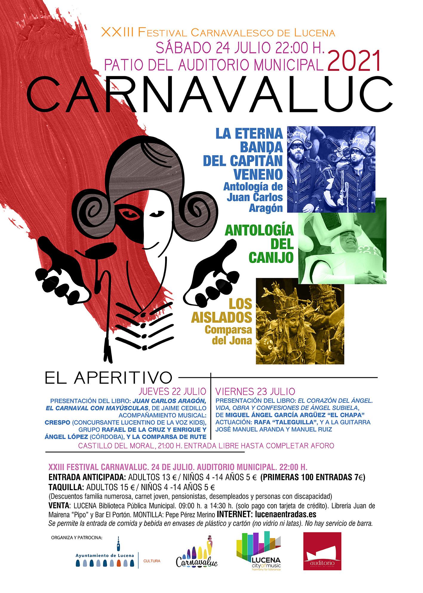 Carnavaluc 2021 - XXIII Festival Carnavalesco de Lucena @ Auditorio de Lucena (patio)
